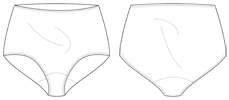 Panties - technical drawing