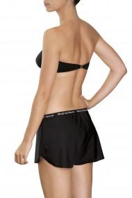 Black bikini bandeau and boxer shorts