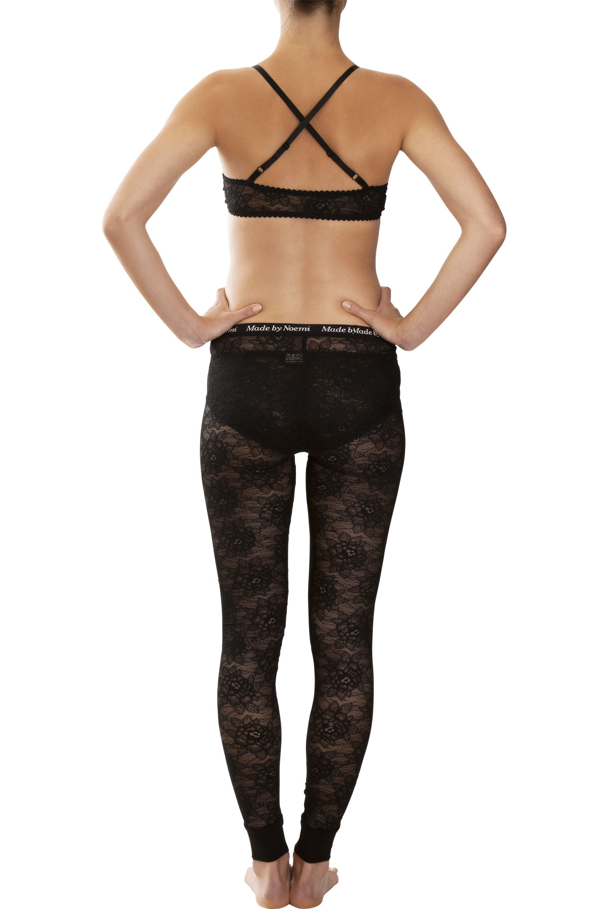 Ideal Black Lace leggings - NEW! - Made by Noemi TU62