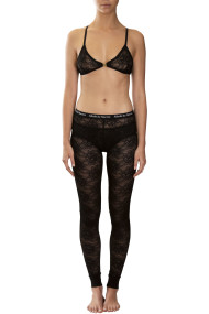 Lace leggings and bralette in black