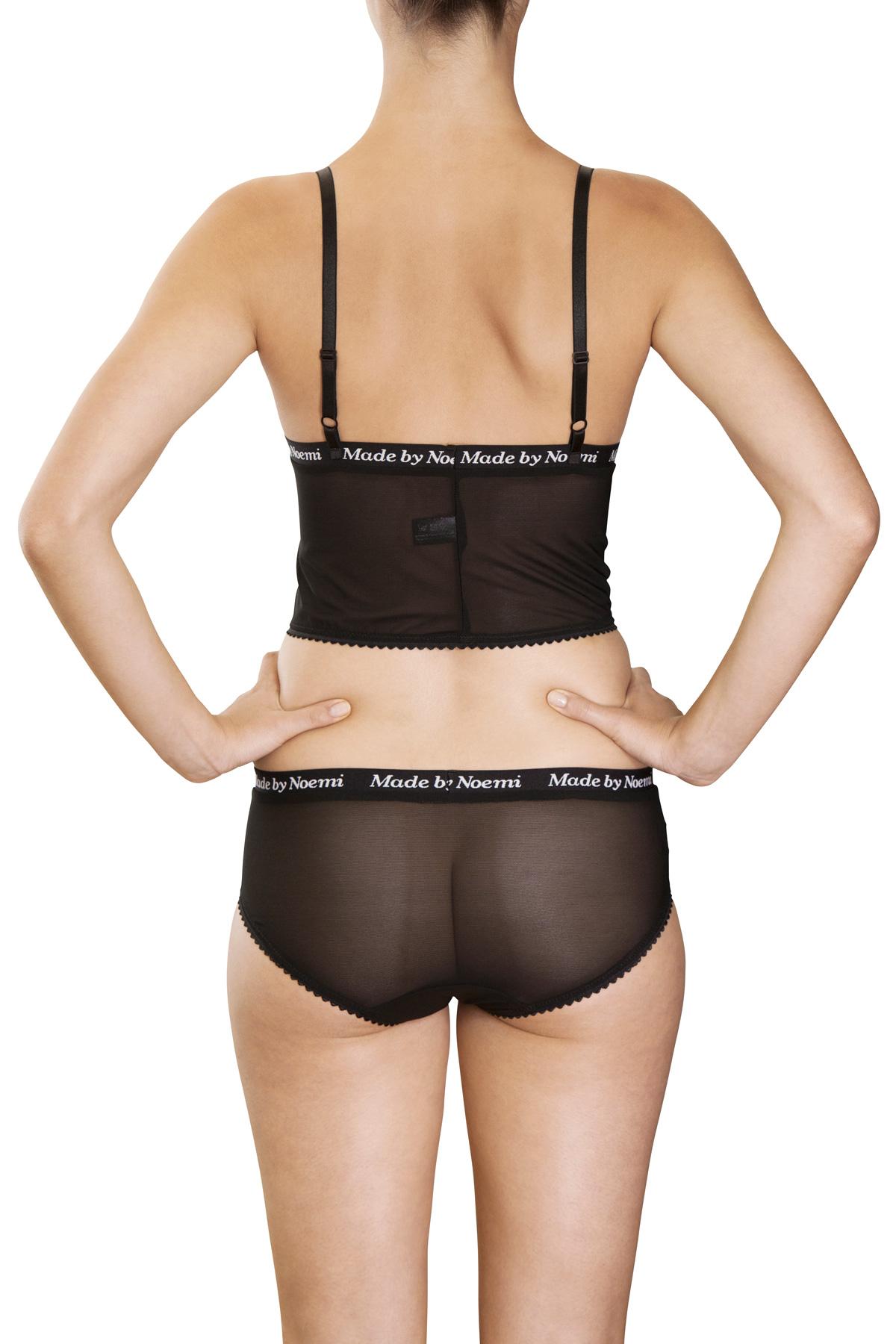afc34c78de sheerpower bustier panties-low black back