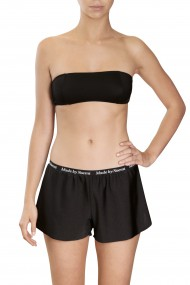 Black bikini bandeau and boxer shorts