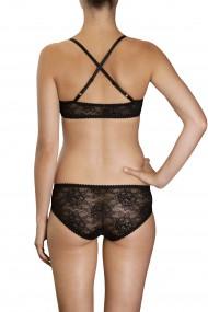 Black lace bralette and panties